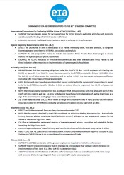 Summary of EIA Recommendations to the 62nd Standing Committee