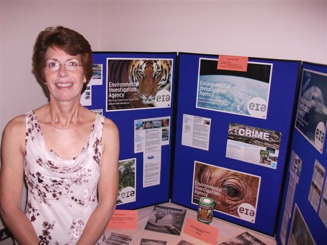 Sue Harris raised money for EIA at her party in September