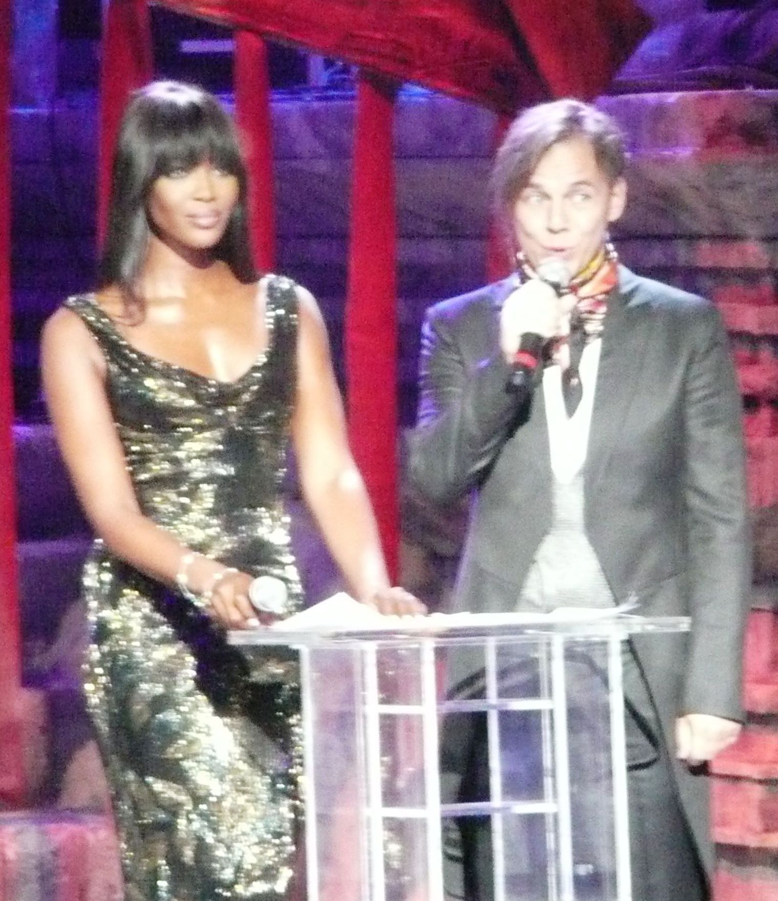 Naomi Campbell & Ilya Lagutenko at the Tiger Forum