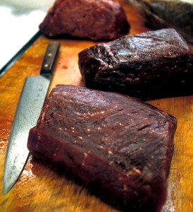 Whale meat for sale in Japan (c) EIA